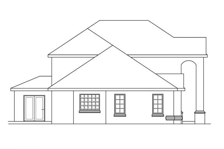 Traditional House Plan - Richfield 46624 - Left Exterior