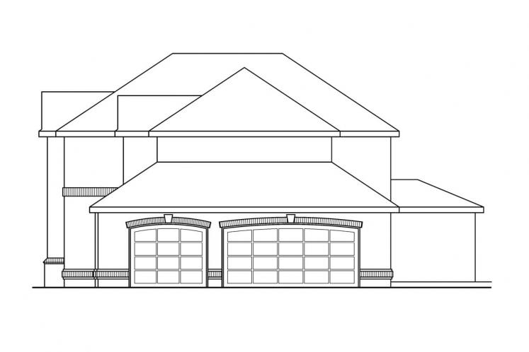 Classic House Plan - Richfield 46624 - Right Exterior