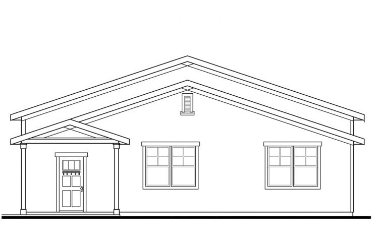 Traditional Garage Plan - Garage 46661 - Right Exterior