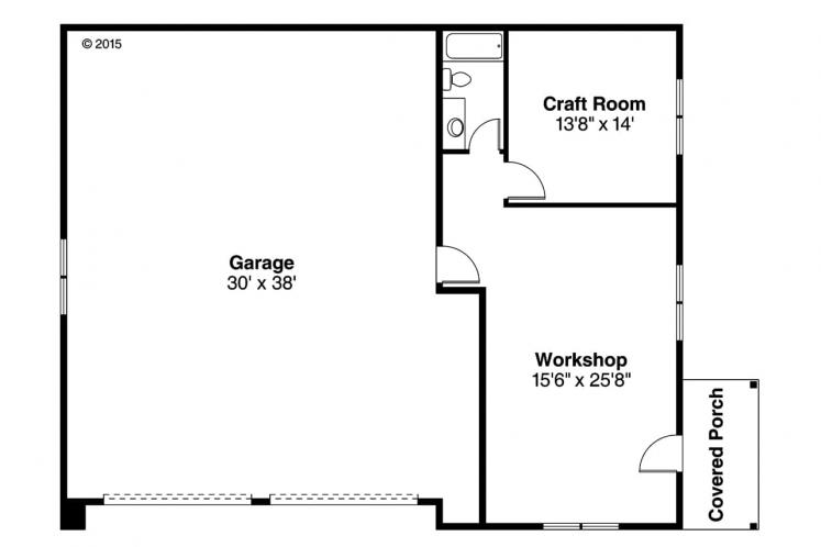 Cape Cod Garage Plan - Garage 46661 - 1st Floor Plan