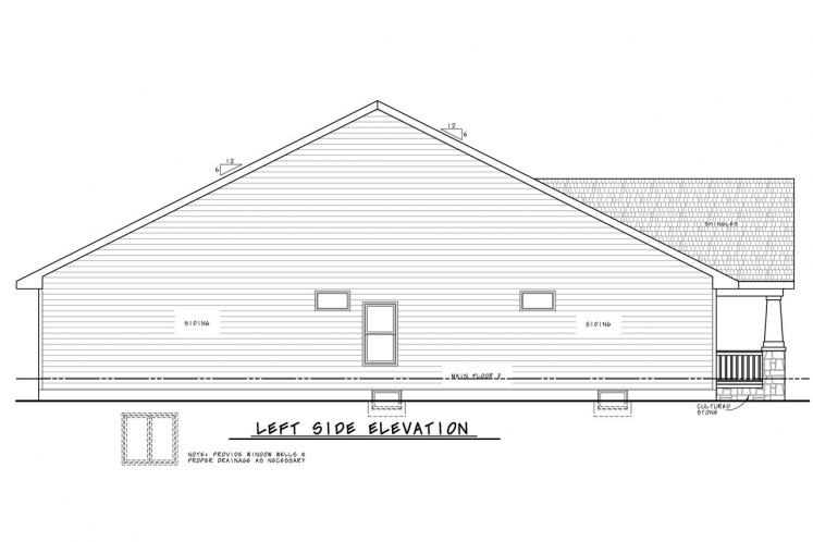 Country House Plan - Honey Creek 46714 - Left Exterior
