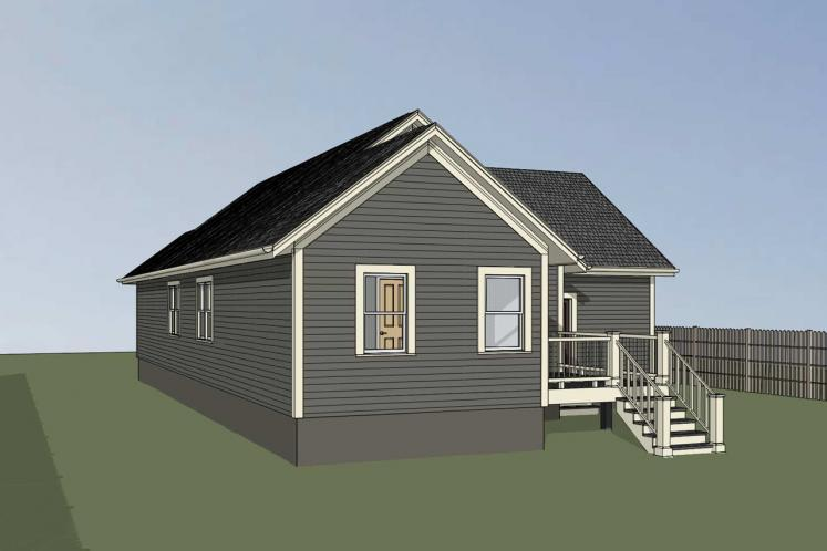 Cottage House Plan -  46877 - Right Exterior