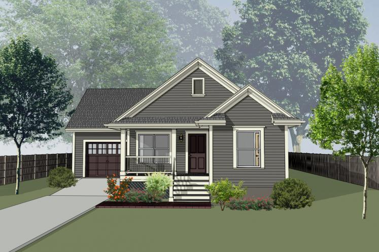 Country House Plan -  46877 - Front Exterior