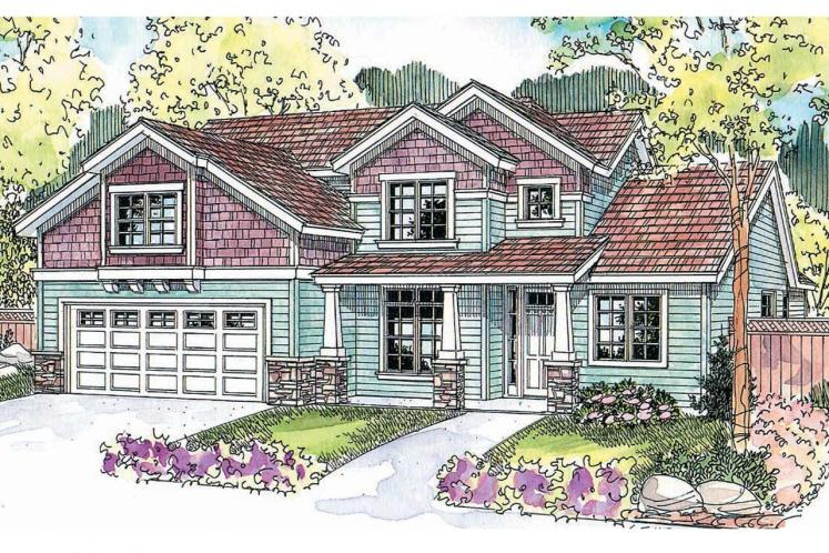 Cape Cod House Plan - Brookside 47124 - Front Exterior