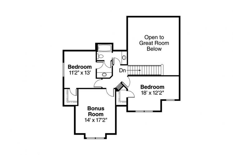 Country House Plan - Brookside 47124 - 2nd Floor Plan