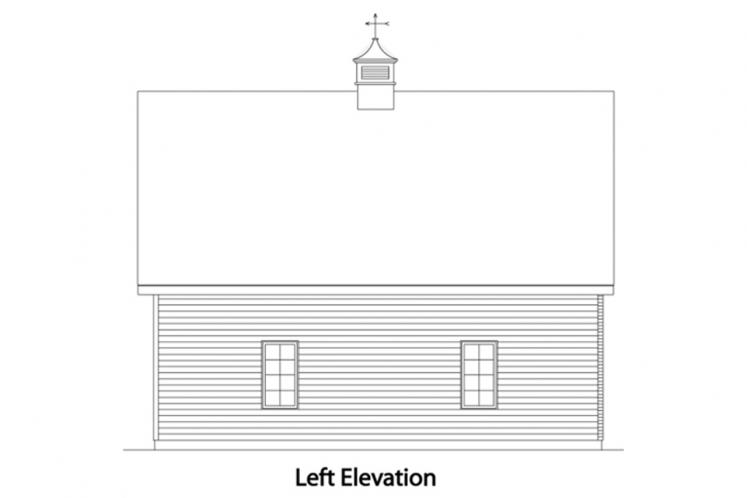 Traditional Garage Plan -  47139 - Left Exterior