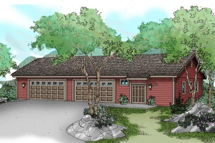 Traditional Garage Plan -  47317 - Front Exterior