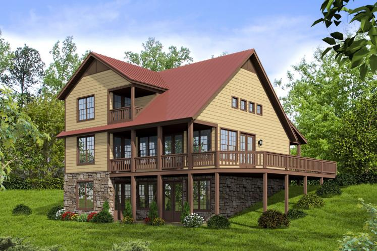 Country House Plan - Front Royal 47319 - Rear Exterior