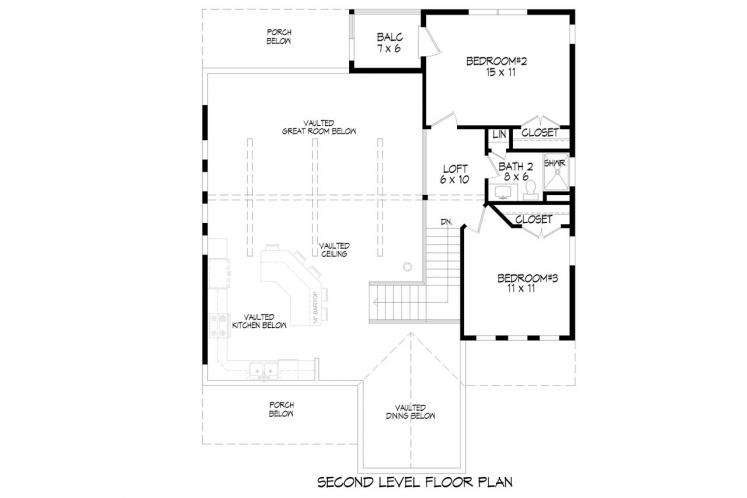 Country House Plan - Front Royal 47319 - 2nd Floor Plan