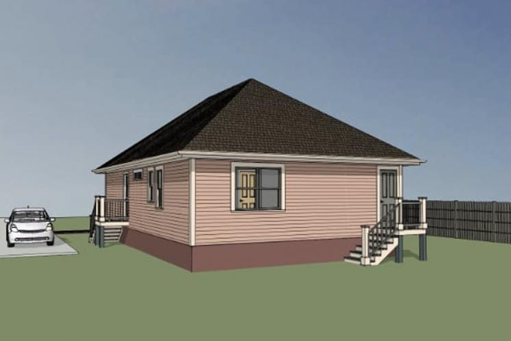 Cottage House Plan -  47357 - Right Exterior