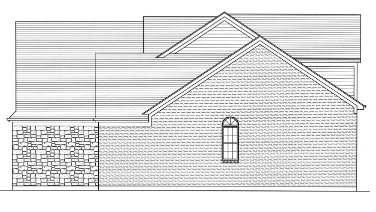 Craftsman House Plan - The Whitford 47387 - Right Exterior