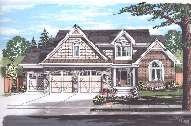 Craftsman House Plan - The Whitford 47387 - Front Exterior