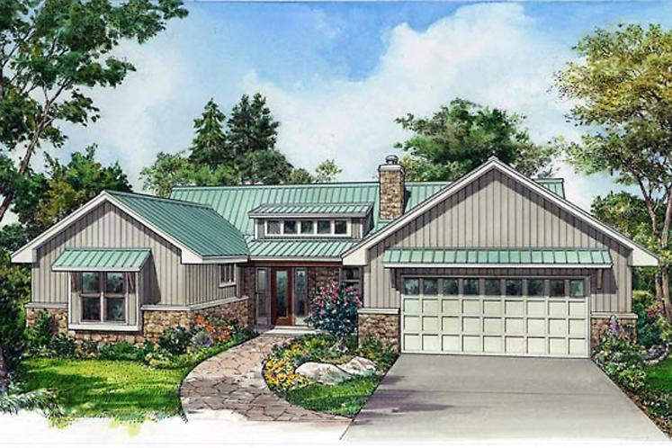 Ranch House Plan - Portland 47515 - Front Exterior