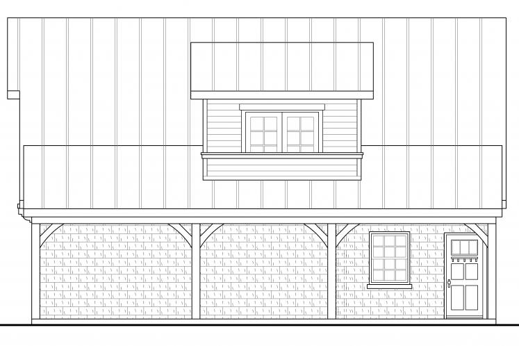 Country Garage Plan -  47516 - Right Exterior