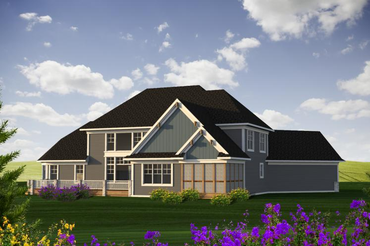 Craftsman House Plan -  47535 - Rear Exterior