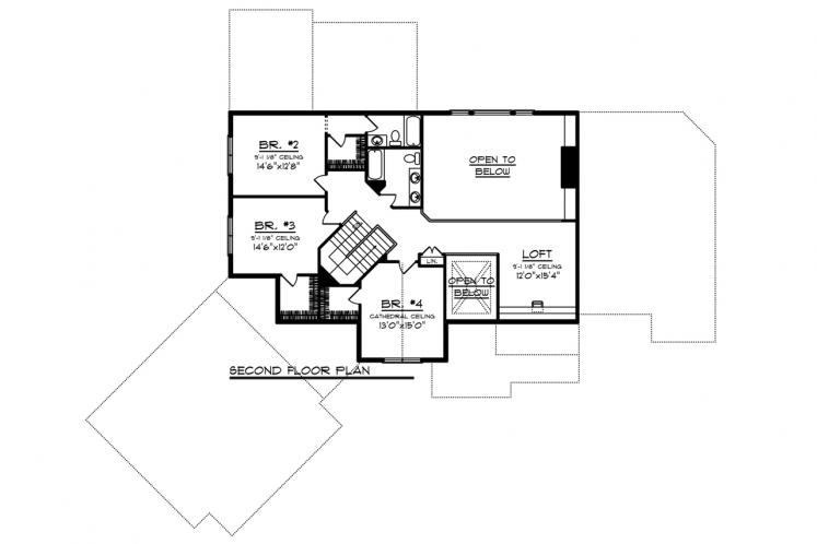Craftsman House Plan -  47535 - 2nd Floor Plan