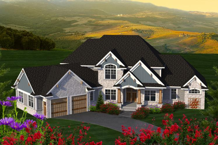 Traditional House Plan -  47535 - Front Exterior