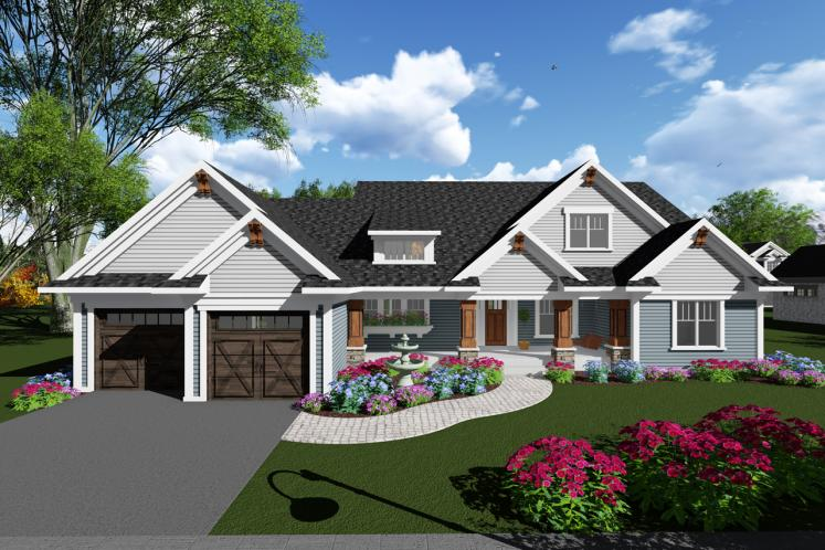 Craftsman House Plan -  47536 - Front Exterior