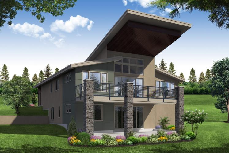 Contemporary House Plan - Carbondale 47582 - Rear Exterior