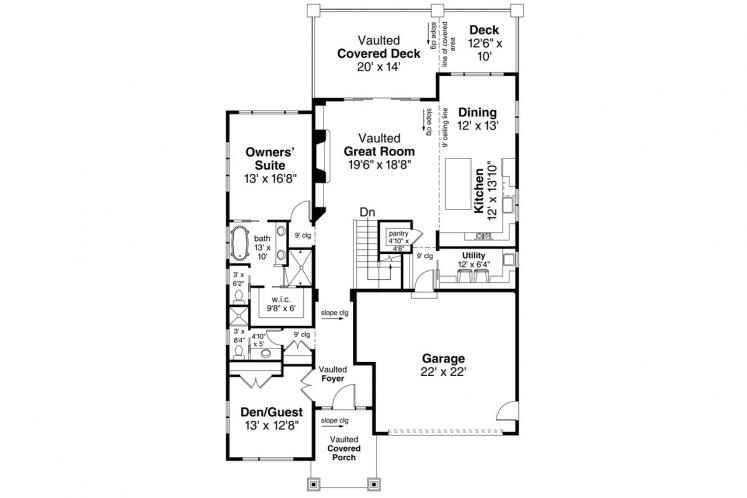 Contemporary House Plan - Carbondale 47582 - 1st Floor Plan