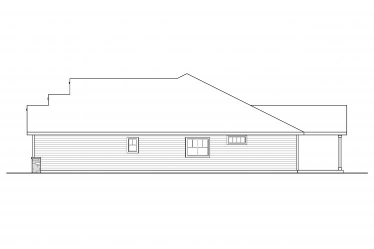 Ranch House Plan - Aster 47617 - Right Exterior