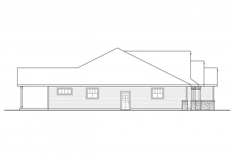 Traditional House Plan - Aster 47617 - Left Exterior