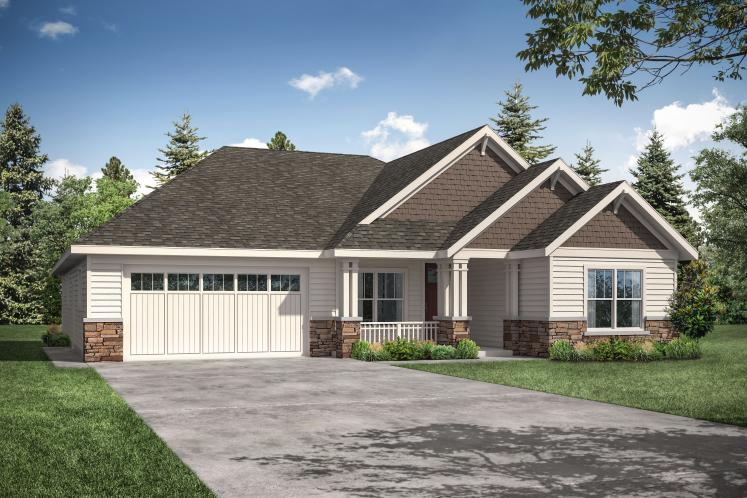 Ranch House Plan - Aster 47617 - Front Exterior