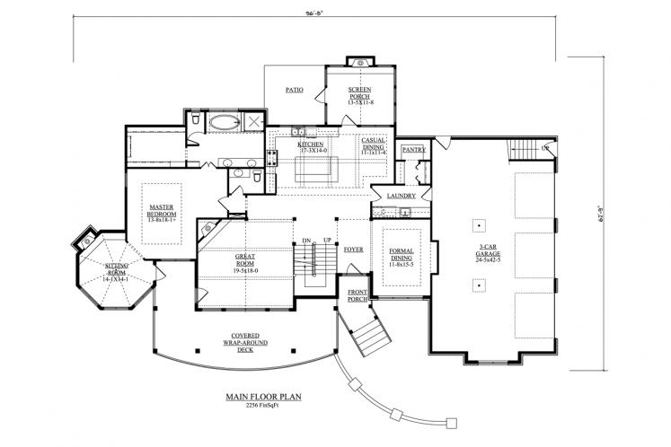 Victorian House Plan - Tennessee 47652 - 1st Floor Plan
