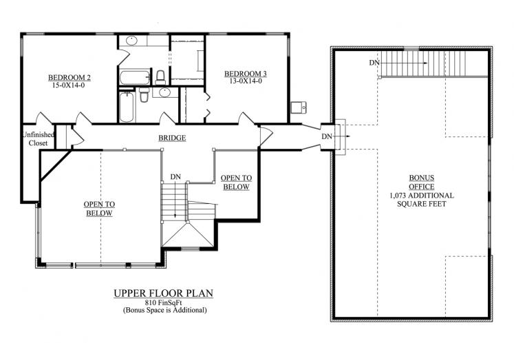 Country House Plan - Tennessee 47652 - 2nd Floor Plan