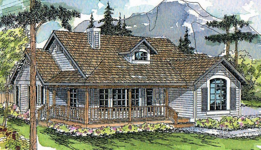 Country House Plan - Cambridge 47689 - Front Exterior