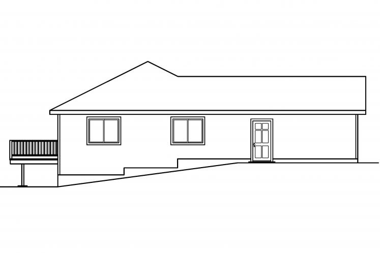 Traditional House Plan - Tyson 47726 - Left Exterior
