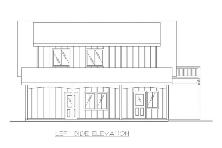 A-Frame House Plan -  47839 - Left Exterior