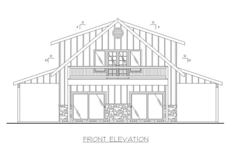 Cottage House Plan -  47839 - Front Exterior