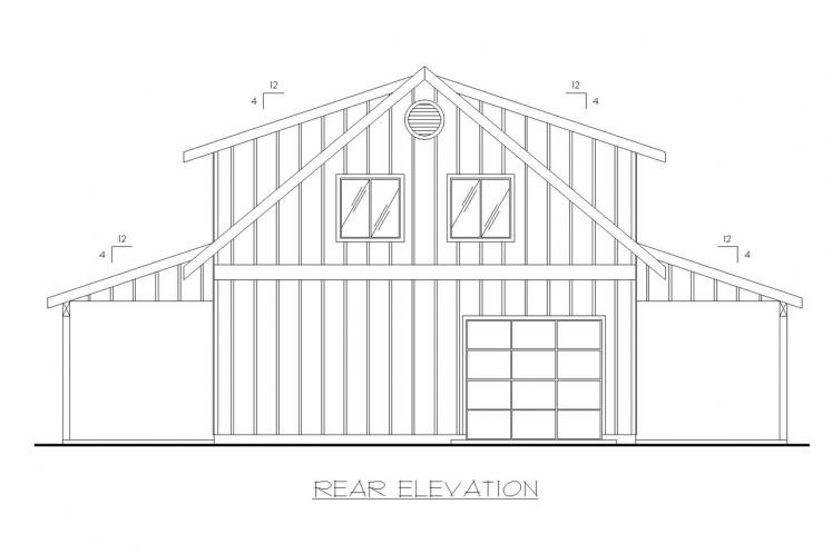 Country House Plan -  47839 - Rear Exterior