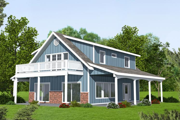 A-Frame House Plan -  47839 - Front Exterior