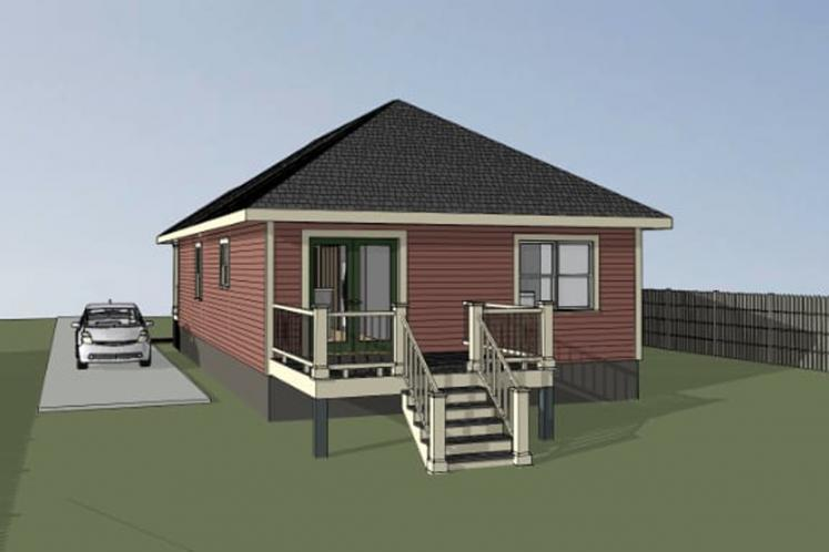 Country House Plan -  47911 - Right Exterior
