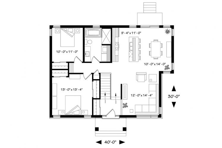 Modern House Plan - Ripley 47948 - Front Exterior