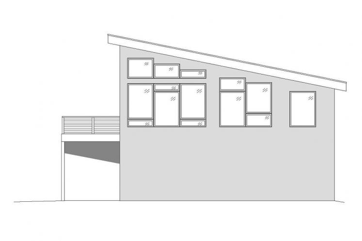 Modern House Plan - Orcas Island 47952 - Right Exterior