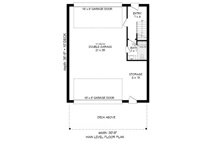 Contemporary House Plan - Orcas Island 47952 - 1st Floor Plan