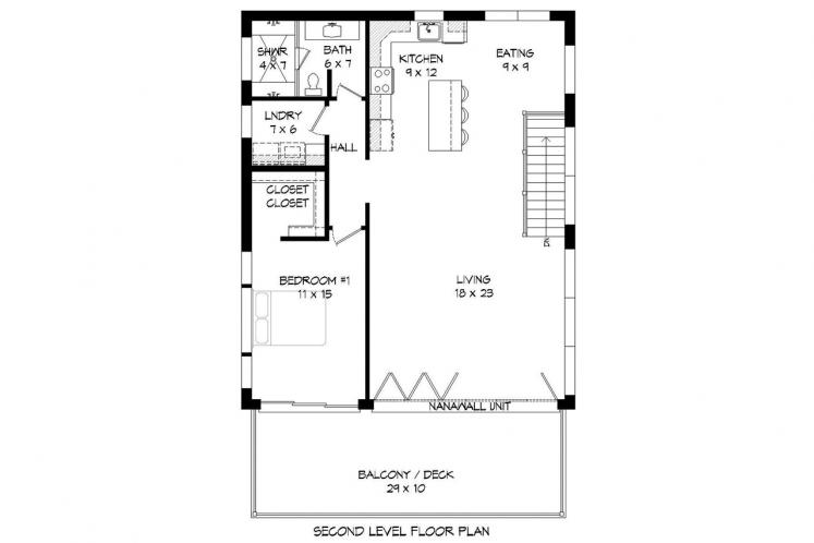 Modern House Plan - Orcas Island 47952 - 2nd Floor Plan