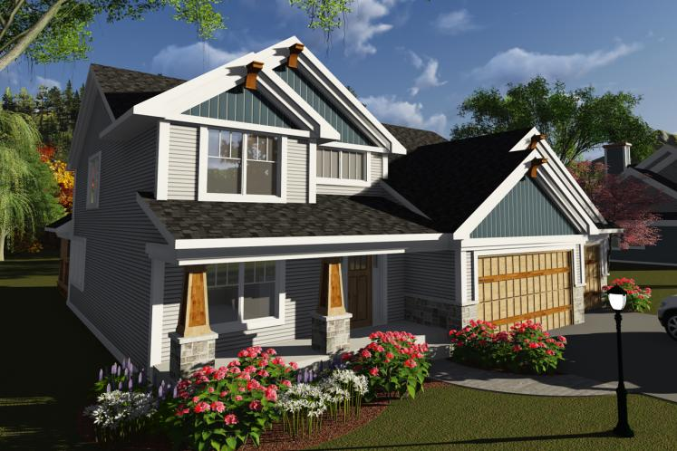 Traditional House Plan -  48095 - Front Exterior