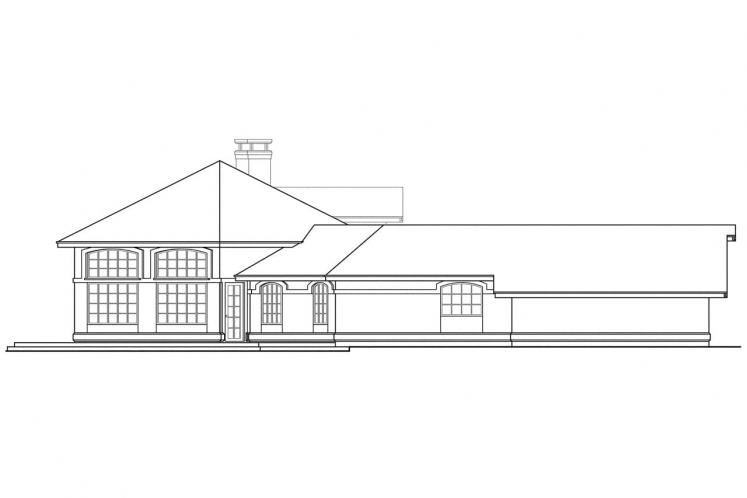 Tuscan House Plan - Oakland 48140 - Left Exterior