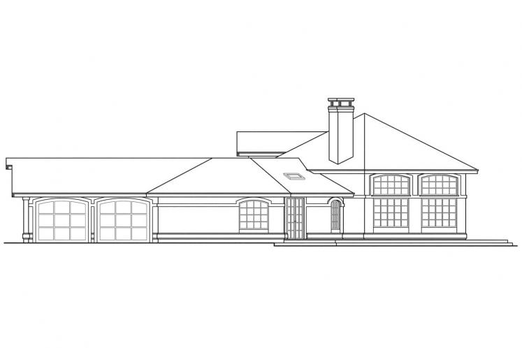 Southwest House Plan - Oakland 48140 - Right Exterior