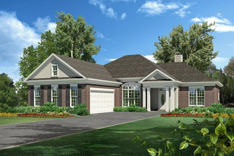 Ranch House Plan -  48156 - Front Exterior