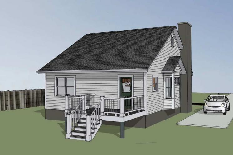 Bungalow House Plan -  48277 - Left Exterior