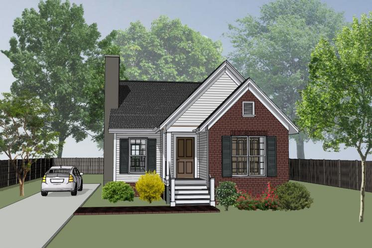 Cottage House Plan -  48277 - Front Exterior