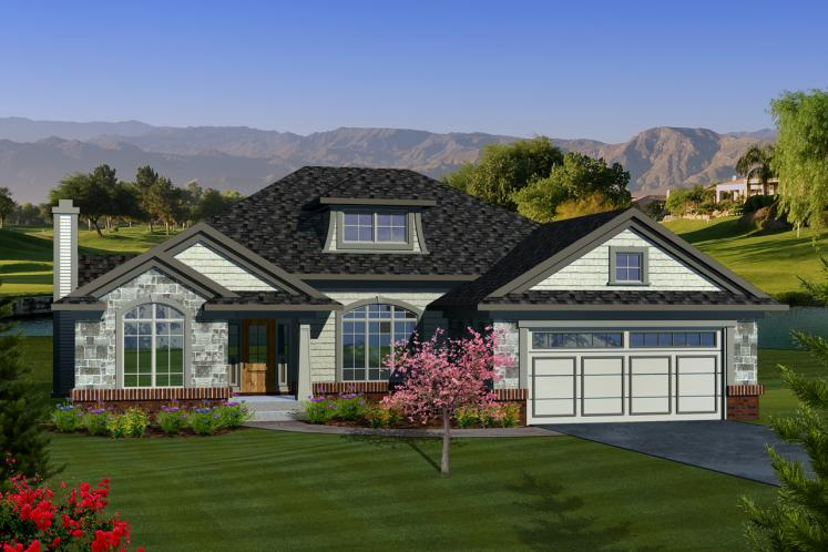Ranch House Plan -  48292 - Front Exterior