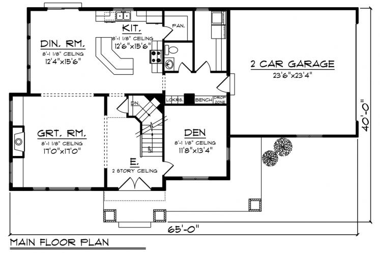 Farmhouse House Plan -  48413 - 1st Floor Plan