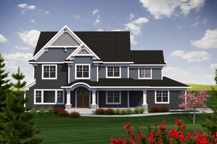 Traditional House Plan -  48413 - Front Exterior