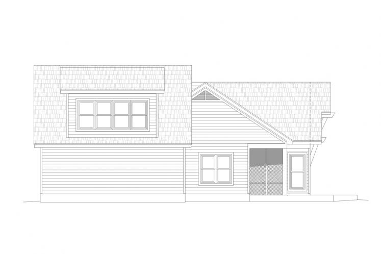 Ranch House Plan -  48509 - Right Exterior